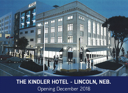 The high-end, seven-story luxury Kindler Hotel is expected to raise the bar for Lincoln's hotel scene by incorporating touches of history and art in the design. Nicolas and Brooke Castaneda are the hotel developers and owners. 'Kindler' is the last name of Brooke's late father, who was also an industrial artist in Lincoln, and his copper and metal artwork will…