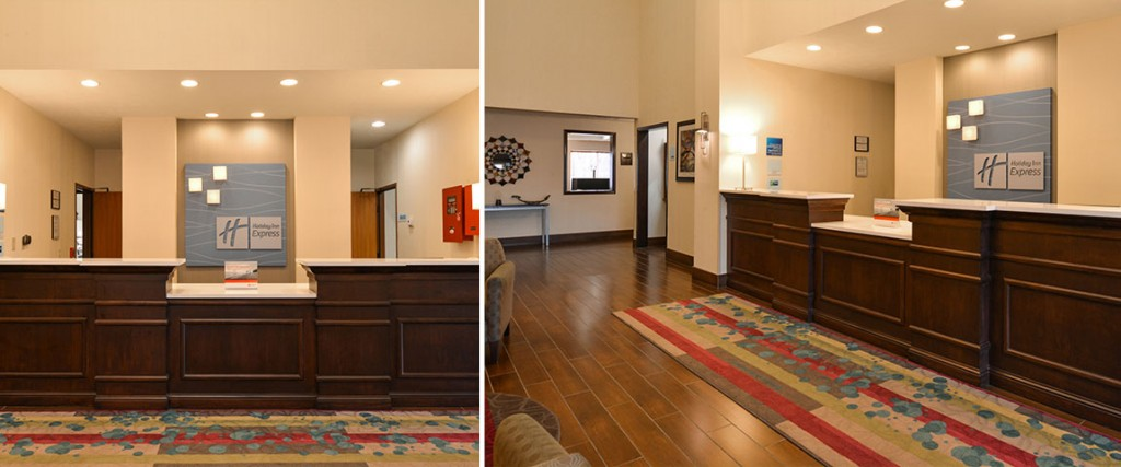 Holiday Inn Express Omaha West front desk